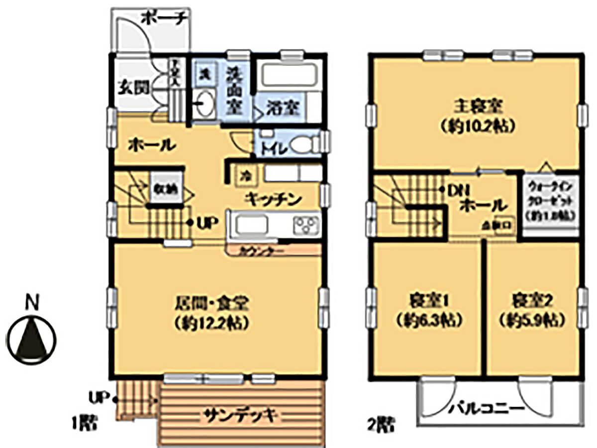 神奈川県横浜市木のぬくもりを感じる戸建の地型図
