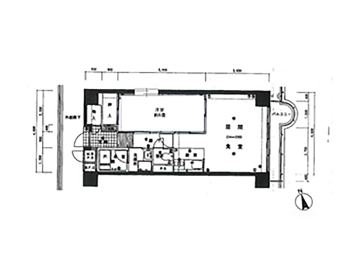 関東のベストサーフポイント御宿シーハイツの間取り図