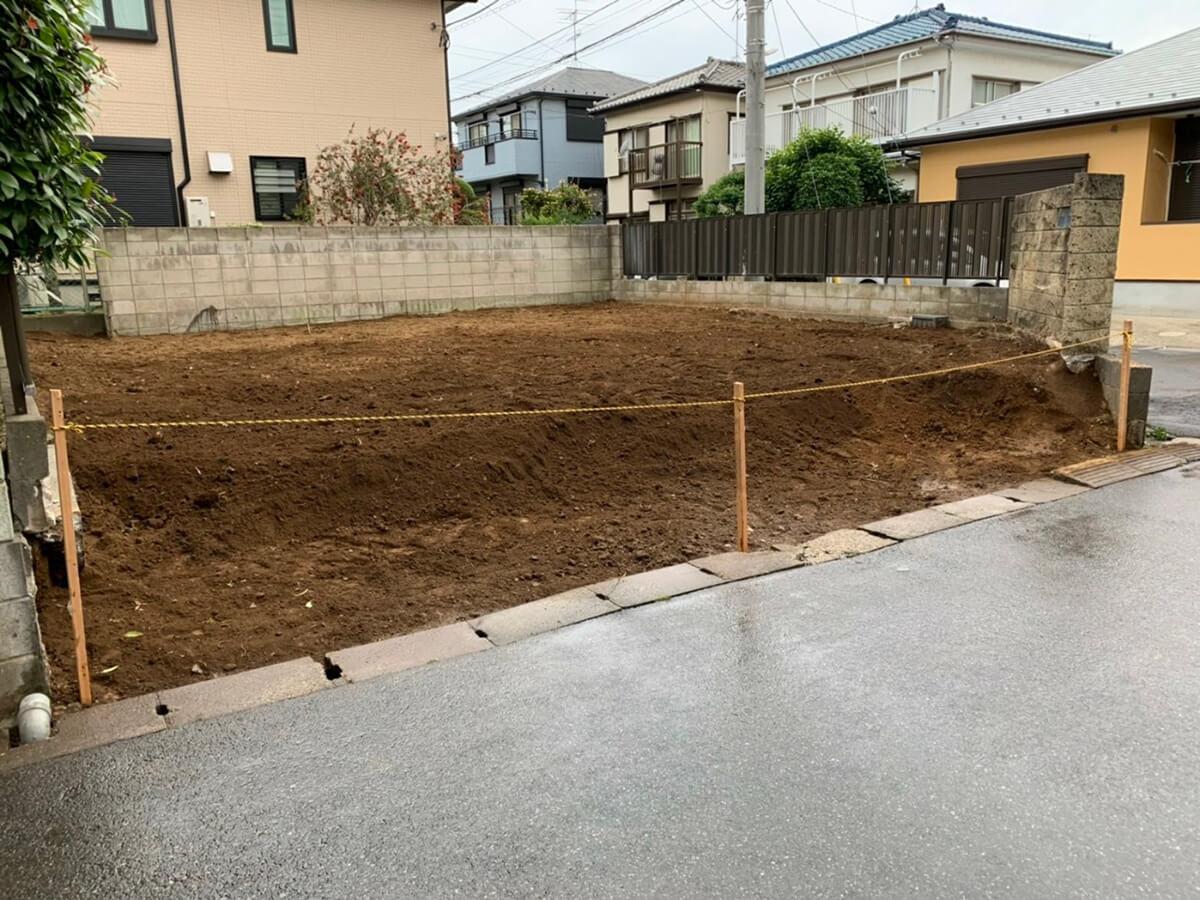 閑静な住宅地にある千葉県船橋市の土地の概要画像
