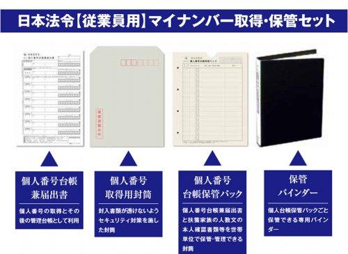 日本法令【従業員用】マイナンバー取得・保管セット