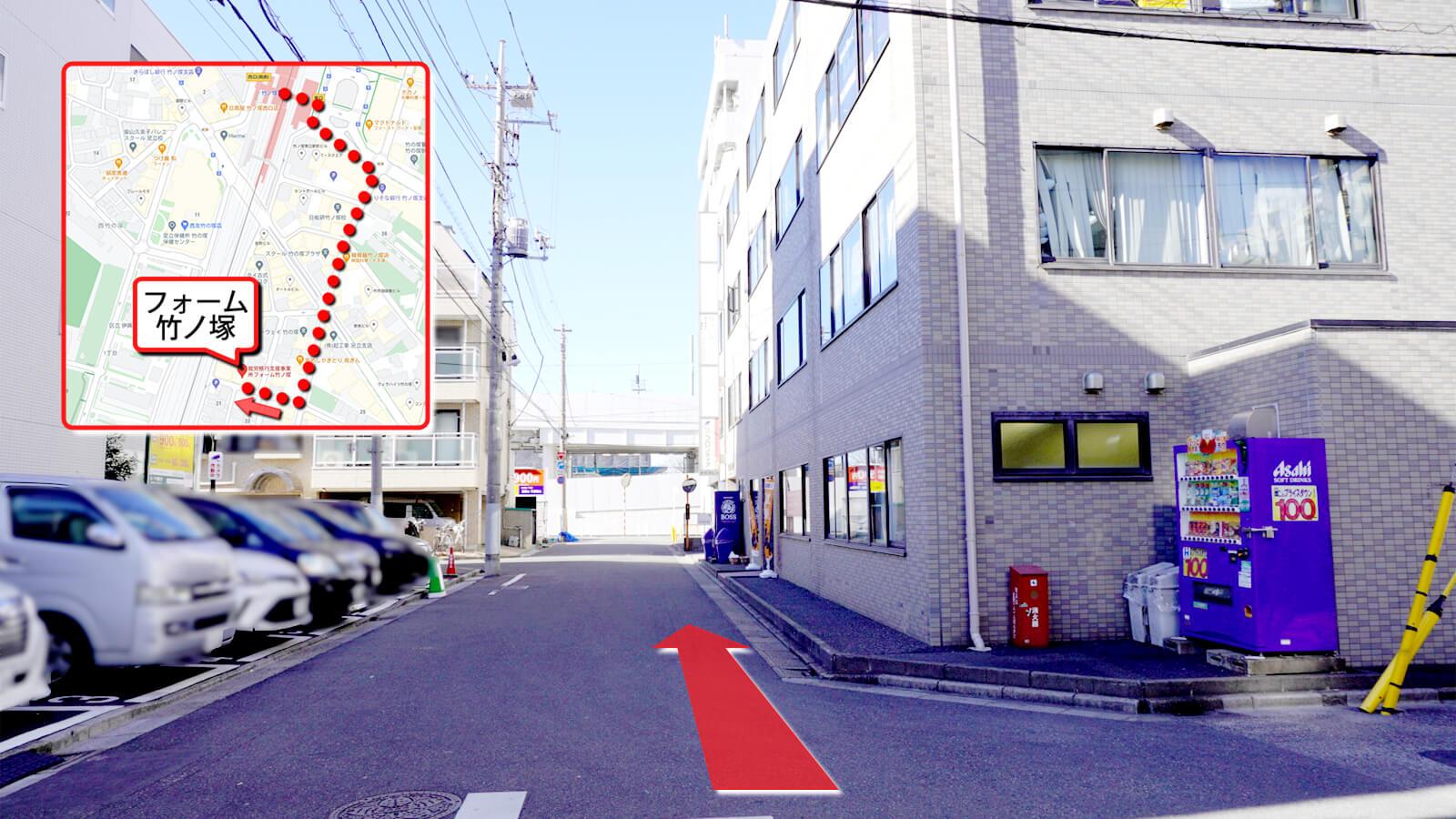 フォーム竹ノ塚への道順画像14