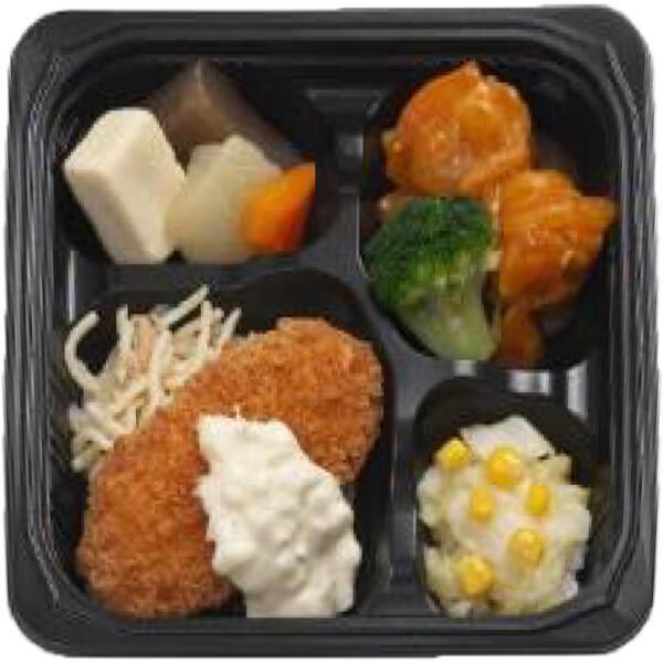 無料の昼食メニューたらフライのタルタルソースの画像