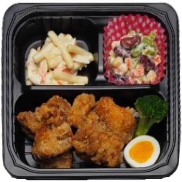 無料の昼食メニュー鶏のから揚げの画像