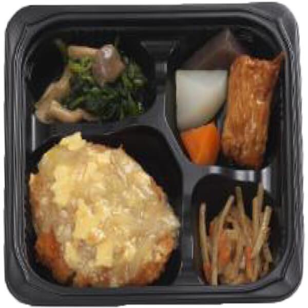 無料の昼食メニュー和風カツの卵とじの画像