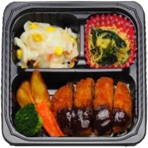 無料の昼食メニューロースカツの画像