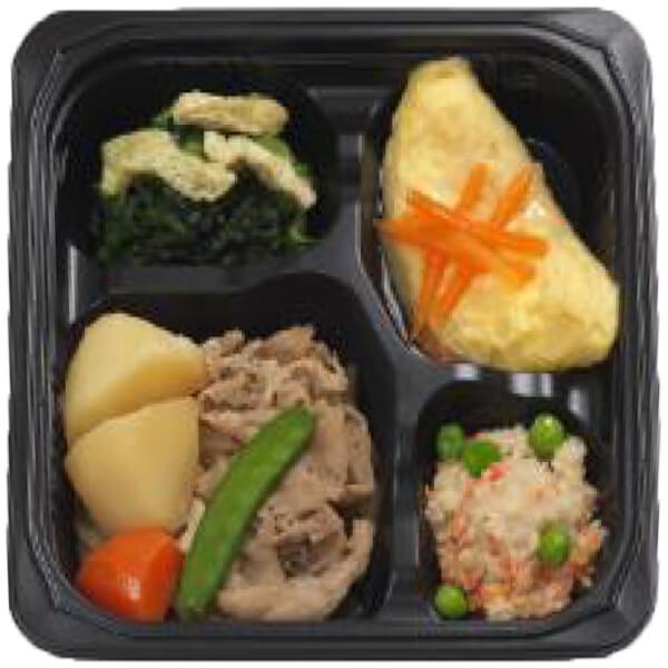 無料の昼食メニュー肉じゃがの画像
