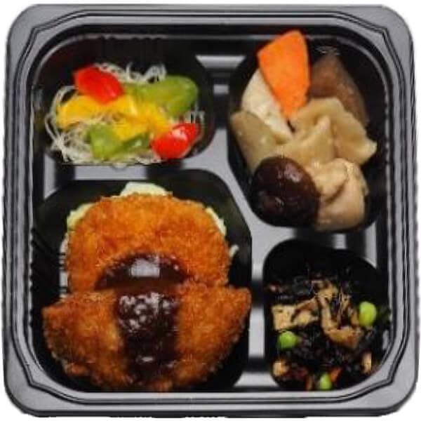 無料の昼食メニューメンチカツ&コロッケの画像