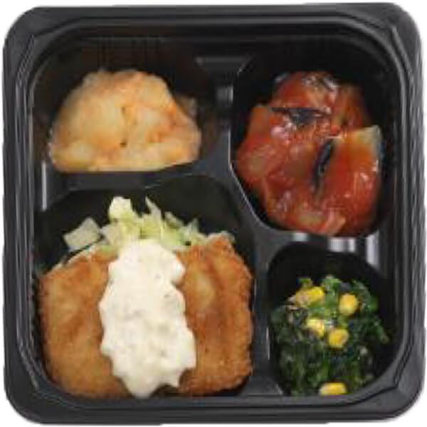 無料の昼食メニューエビカツの画像