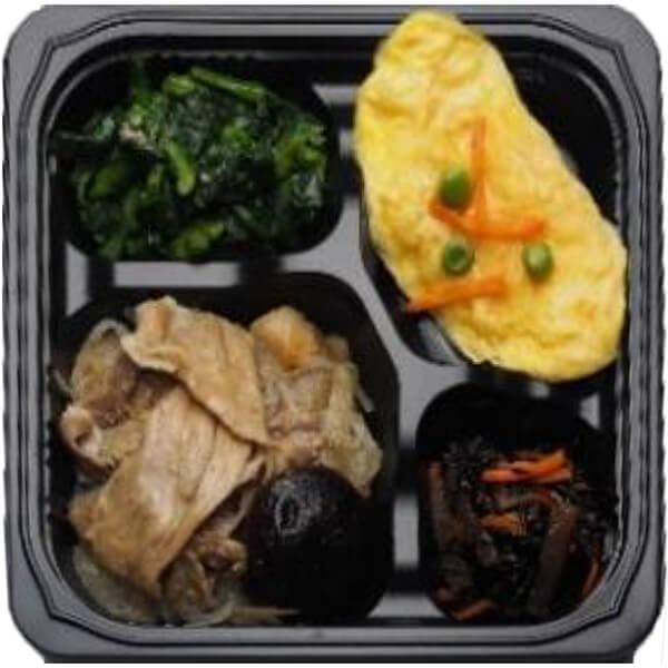 無料の昼食メニューすき焼き風煮の画像
