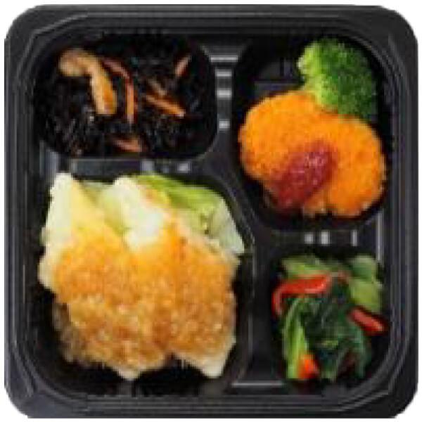 無料の昼食メニュー白身魚の葱ソースの画像